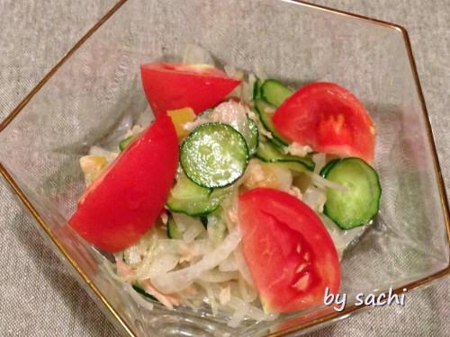sachi たまねぎときゅうりのサラダ
